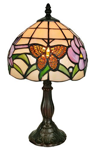 Amora Lighting Tiffany Style AM210TL08 Butterfly Floral Table Lamp 8