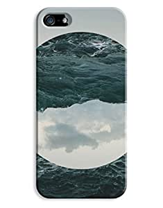 Indie Sea Waves Portrait iPhone 5 5S Hard Case Cover