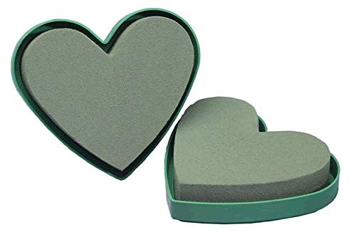 5'' Oasis Solid Mini Heart Foam Forms, 2 pack