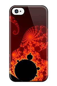 Durable Fractal Pattern Abstract Pattern Back Case/cover For Iphone 4/4s