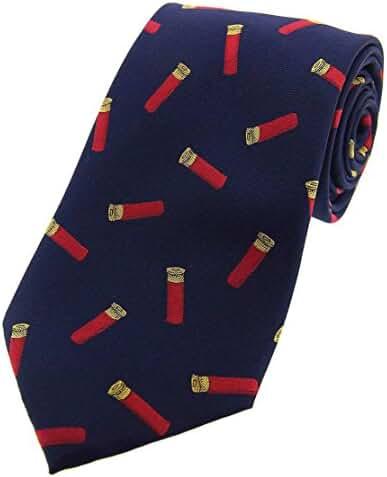 Navy Gun Cartridges Woven Country Silk Tie by David Van Hagen