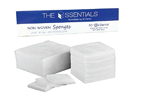 3D Dental NW44 Non-Woven Sponges, 4'' x 4'' (Pack of 4000) by 3D Dental