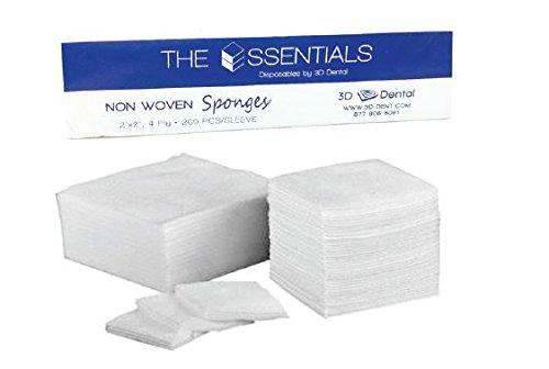 Essentials NWP22 Essentials Premium Non Woven Sponges 2''x 2''