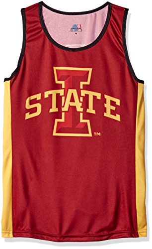 - NCAA Iowa State Cyclones RUN/TRI Singlet, Red, Large