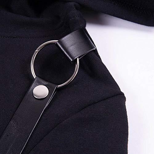 Zip Sweatshirts Nero Maniche Da In Black Lunghe Zjswcp Cotone Donna Con E Felpa A Cappuccio qnzB6w
