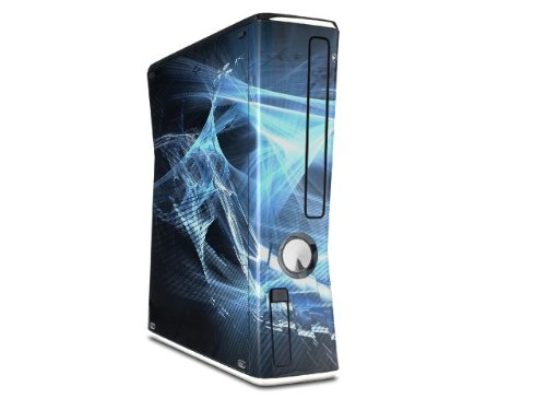 Robot Spider Web Decal Style Skin for XBOX 360 Slim Vertical (OEM Packaging)