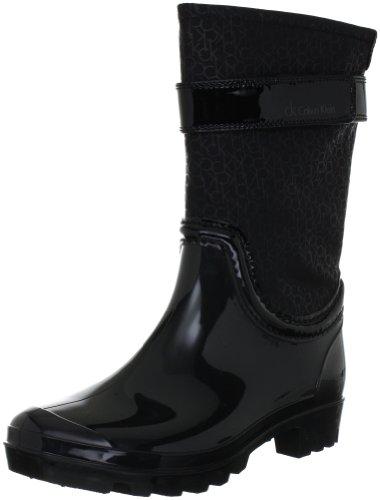Patent Bbk Klein Calvin Logo Womens Wavery Water Rubber Shoes Small Nylon qPwY7q