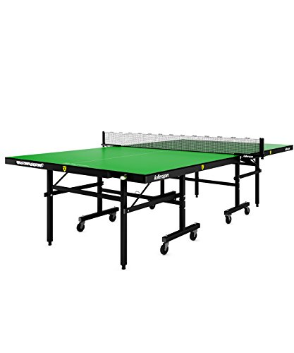- Killerspin MyT4 Folding Ping Pong Table| Adjustable Indoor Table Tennis Table Storage Pockets Home Office| Tournament Quality Construction & Court Surface, Ittf Standard| Lime