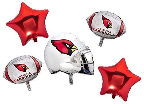 Anagram 31426 Arizona Cardinals Balloon Bouquet, Multicolored