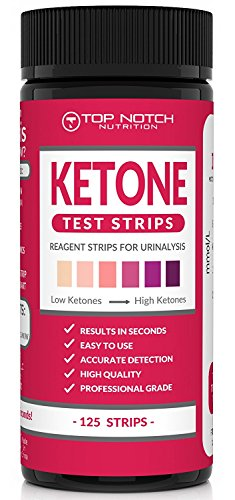 Ketone Test Strips for Testing Ketosis Levels in 15 Seconds Using Urinalysis. Accurate Results ...