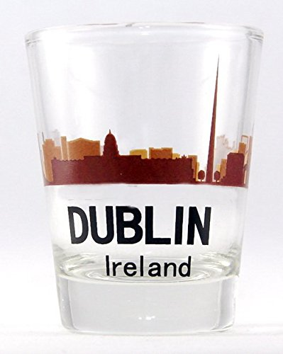 Dublin Ireland Sunset Skyline Shot Glass