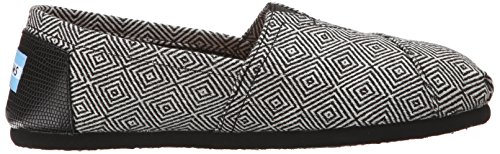talla Black Diamond Wool 38 5 Toms color 1019B09R Sole Rope Zapatos mujer para negro qpTCHqwBg