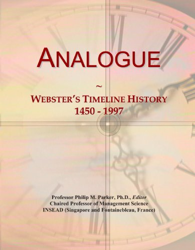 Analogue: Webster's Timeline History, 1450 - 1997 Analogue Line