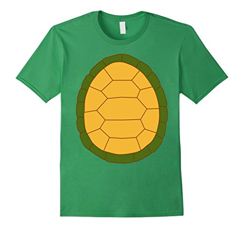 2 Man Costume Ideas (Mens Turtle - 2 sided Easy Halloween Costume Idea - Tee Shirt Large Grass)