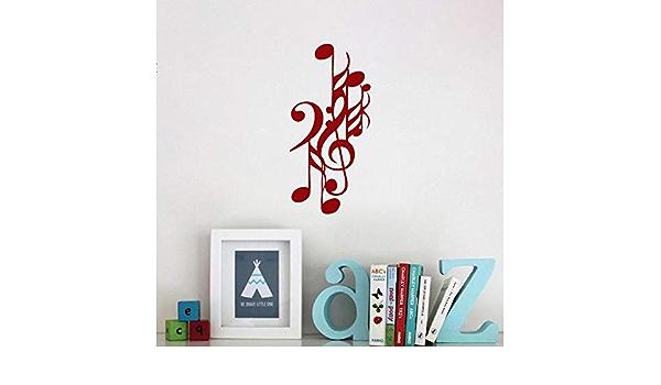 Geiqianjiumai Calcomanías de Notas Musicales símbolos de ...