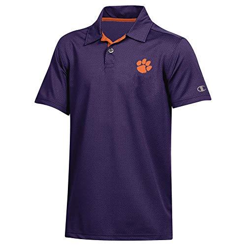 Champion Youth Clemson University Tigers Polo Short Sleeve Polo (Large) ()