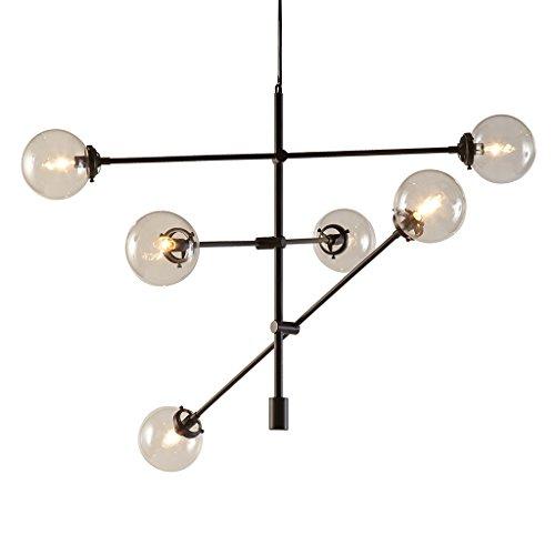 Ink+Ivy Cyrus Antique Bronze Chandeliers - Metal, Glass Sputnik Dining Room Ceiling Light - Antique Bronze, 6 Bulb Light Fixtures Ceiling - 1 Piece Hanging Room Lights Chandelier