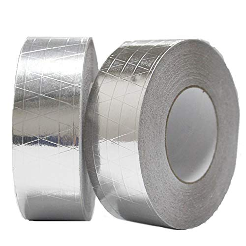 Westspark Fiber-Glass Reinforced Aluminum foil Tape, 2 inch 82ft Professional Grade Adhesive Silver Duct Tape Roll for Pipe Sealing, HVAC, Metal Repair, Patching Hot Cold Air Ducts, Heat Insulation