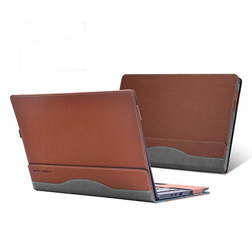 ppker Laptop Case for Lenovo ThinkPad X1 Yoga 14 Inch 2017, Detachable Cover Notebook Computer Sleeve Bag Tablet PU Leather Protective Skin (Brown) ()