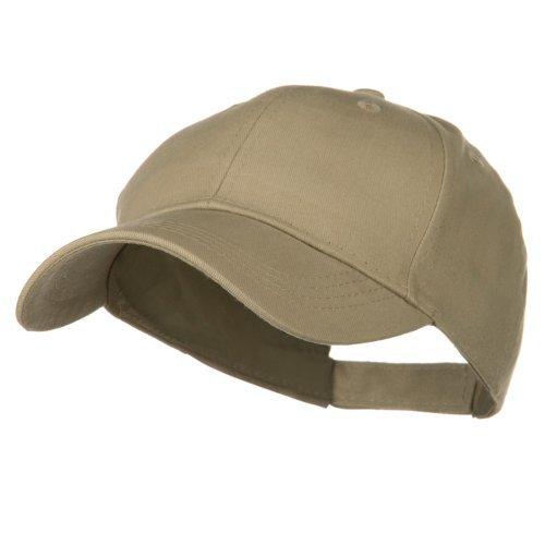 (Youth Brushed Cotton Twill Low Profile Cap - Khaki)