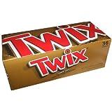 Twix トゥックス クッキーバー 36袋入(1袋2個入) [並行輸入品]