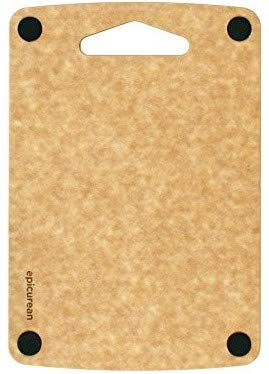 Epicurean Prep Series Non-Slip Cutting Board, Thin and Lightweight - Natural (Small - 9.5 X 6.5 Inch) (Recycled Series Cutting Board)