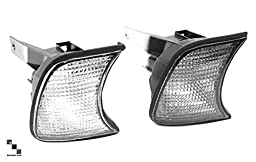 Bimmian DFL462LON Depo Clear and Smoked Front Turn Signal Lenses For BMW 3 Series Sedan or Touring - 2002-2005 - E46