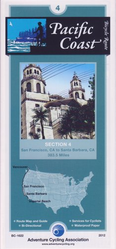 Bicycle Touring Map: Pacific Coast Section 4 (Cycling Maps)