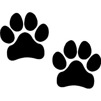 Amazon Com 8 Dog Paw Prints Sticker Black Dogs Puppy Pooch
