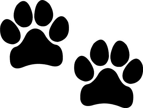 (Paw Prints, BLACK, I Make DecalsPawprints, Paws, Dog, Puppy, Pup, Mutt, Canine, Print, Car, Auto, Wall, Locker, Laptop, Ipad, Notebook, Netbook, Vinyl, Sticker, Decal, Label, Placard, BLACK)