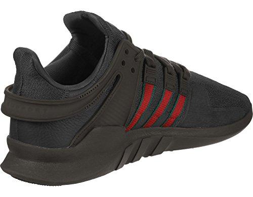 adidas EQT Support ADV, Scarpe da Ginnastica Uomo Nero (Utility Black F16/Scarlet/Collegiate Green)