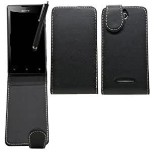 Viesrod SAMRICK - Sony Xperia E & Xperia E Dual - Specially Designed Leather Flip Case & Screen Protector/Foil/Film/...
