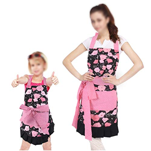 - Surblue 2 Pack Adjustable Bib Apron for Women Mom Kitchen Apron Cute Kids Artist Party Smocks Clothes Cover Against Table or Splatter