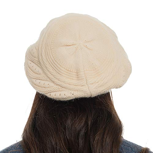 956a087056362 Diravo Womens Beanie Warm Winter Knitted Hat Slouchy Wool Ski Cap Beanie  Visor