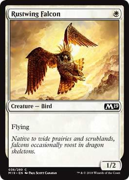 Magic: The Gathering - Rustwing Falcon - Core Set 2019