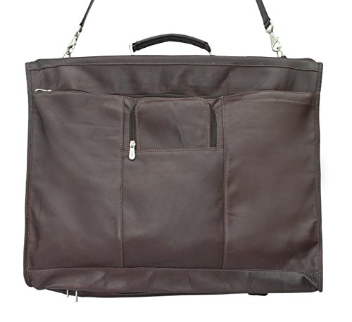 Piel Leather Traveler 40'' Elite Garment Carrie in Chocolate by Piel Leather