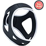 Anti Snoring Chin Strap - Stop Snore Device by MeisterMed - UPGRADED Jaw Support Belt, Adjustable Velcro, Solution & Natural Sleep Aid Device For Men and Women (with chin hole)
