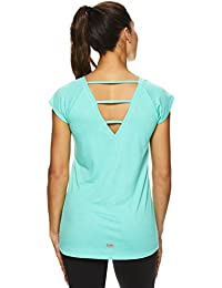 Active Women's Strappy Back Workout T Shirt - Performance Gym & Yoga Tee