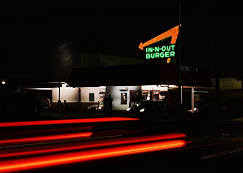 Vintography 24 x 36 Giclee Print of Neon Sign of The in-Out Burger Fast-Food Chain in Pasadena California r93 2013 by Highsmith, Carol M.