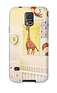 [DbIlqwx7115fdavy]premium Phone Case For Galaxy S5/ Personalized Boy8217s Jungle-themed Nursery Tpu Case Cover