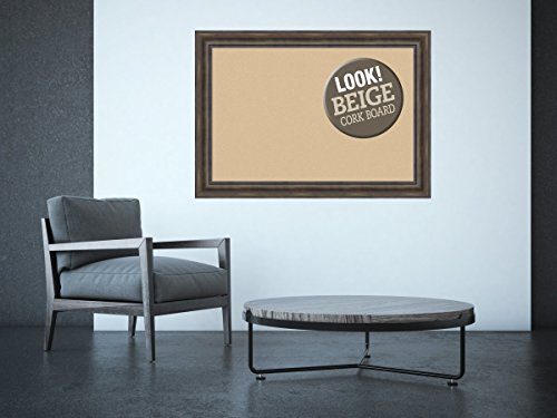 Amanti Art Framed Beige Cork Board Rustic Pine: Outer Size 42 x 30'', Extra Large by Amanti Art (Image #3)