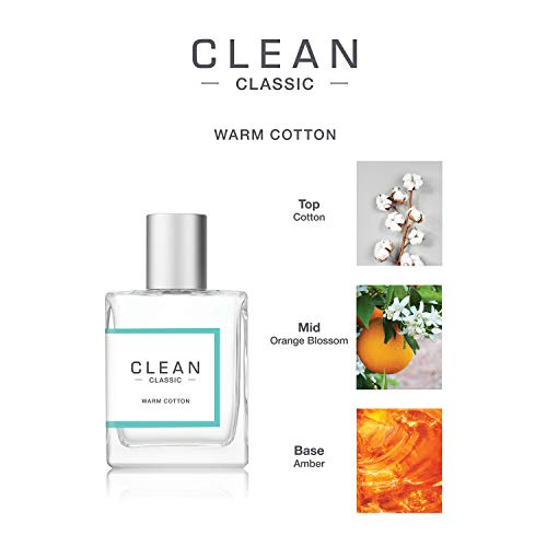 CLEAN CLASSIC Eau de Parfum Light, Casual Perfume Layerable, Spray Fragrance Vegan, Phthalate-Free, & Paraben-Free