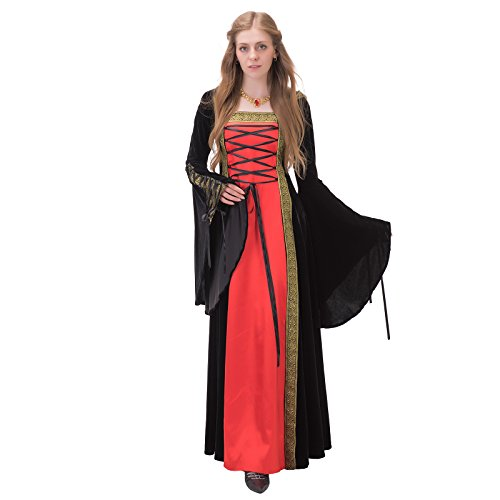 Medieval Dresses Cheap (1791's lady Medieval/renaissance Hooded Gown dresses NQ0029-1-XL)