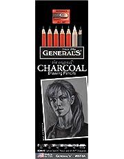 Generals Pencil G557-6A Charcoal Drawing Pencil Set