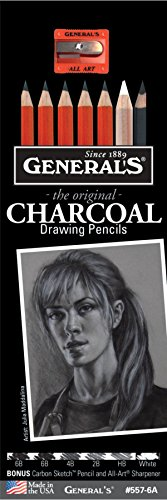 - Generals Pencil G557-6A Charcoal Drawing Pencil Set