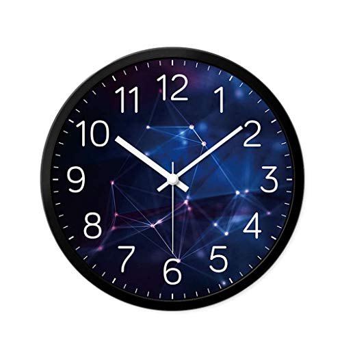 - ZHAS Indoor Decorative Wall Clock Round Quartz Wall Clock Modern Style Wall Clock Silent Battery Operated Easy-Read Analog Clock for Home Office School 12 Inch 0