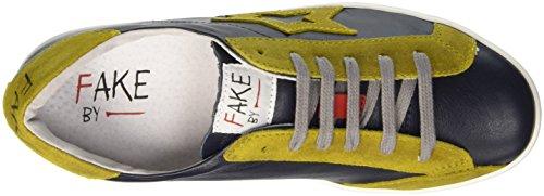 Fake By Chiodo F 835, Scarpe Low-Top Unisex-Adulto Giallo (Nero/ Giallo)
