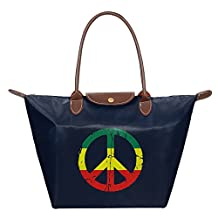 Rasta Peace And Love Womens Stylish Waterproof Tote Shoulder Bag Carry Bag