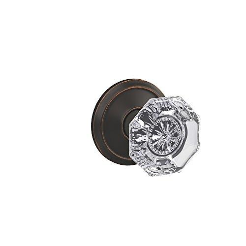 (Schlage Custom FC21 ALX 716 ALD Alexandria Glass Knob with Alden Trim Hall-Closet and Bed-Bath Lock, Aged Bronze)