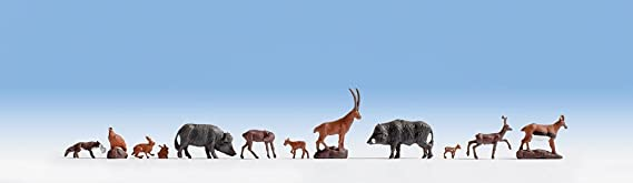 Figure Set HO Gauge Scenics 15745 12 NOCH Forest Animals
